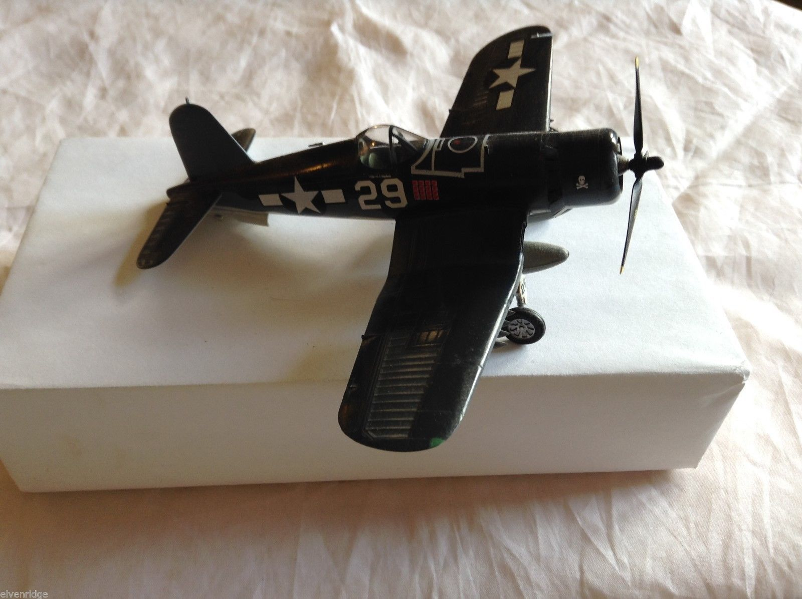 "F4U-1 ""Corsair"" Assembled Model Airplane, 6-1/2"" by 5-1/2"""