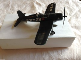 "F4U-1 ""Corsair"" Assembled Model Airplane, 6-1/2"" by 5-1/2"" image 1"