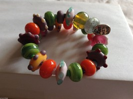 Handmade Multi-Colored Beaded Bracelet, 8-1/2""