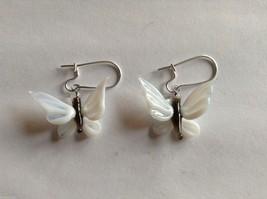 """Glass blown butterfly dangly earrings, 3/4 X 1"""""""