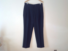 Slates (A Dockers Brand) Men's Size 36/32 Black Wool Blend Pleated Front Pants
