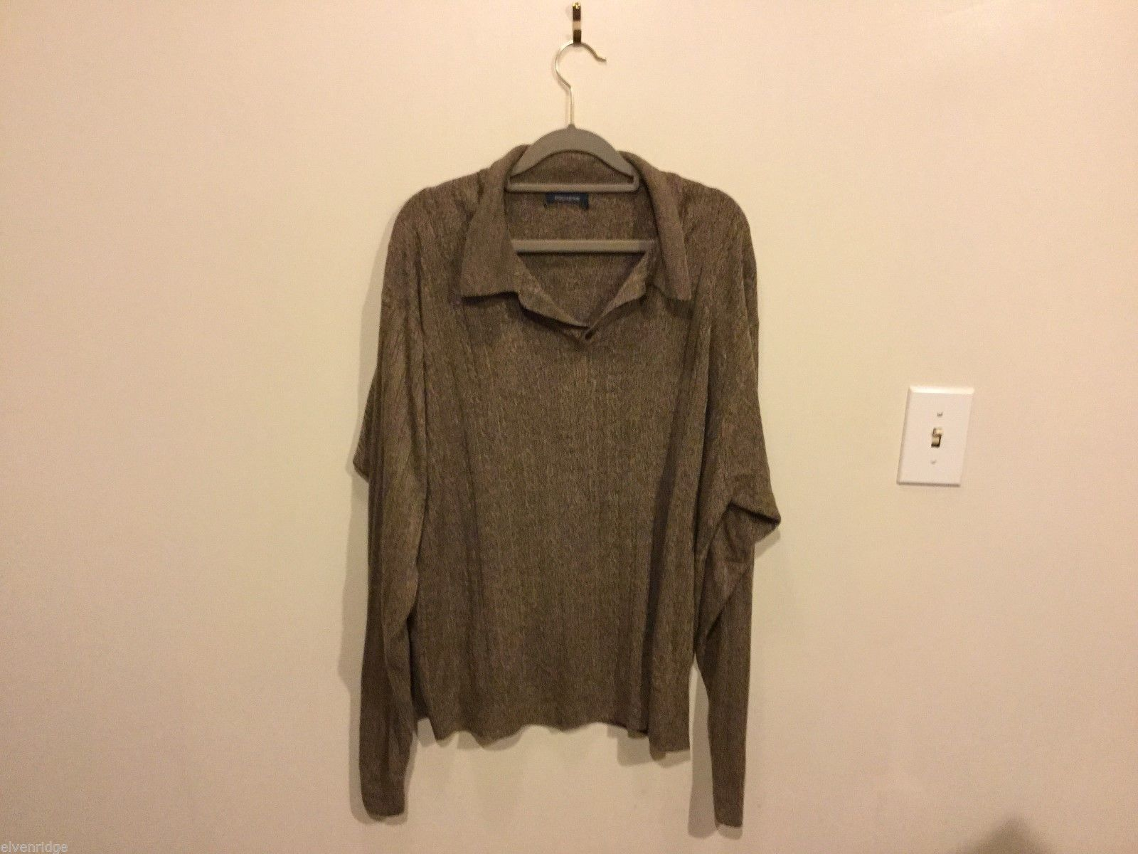 Mens Dockers Brown Long Sleeve Sweater, See Measurements for Size
