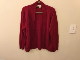 Womens Coldwater Creek Red Cardigan Sweaer, Size XL (16)