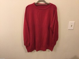 Unisex Thin Red Crew-Neck Sweater, See Measurements for Size
