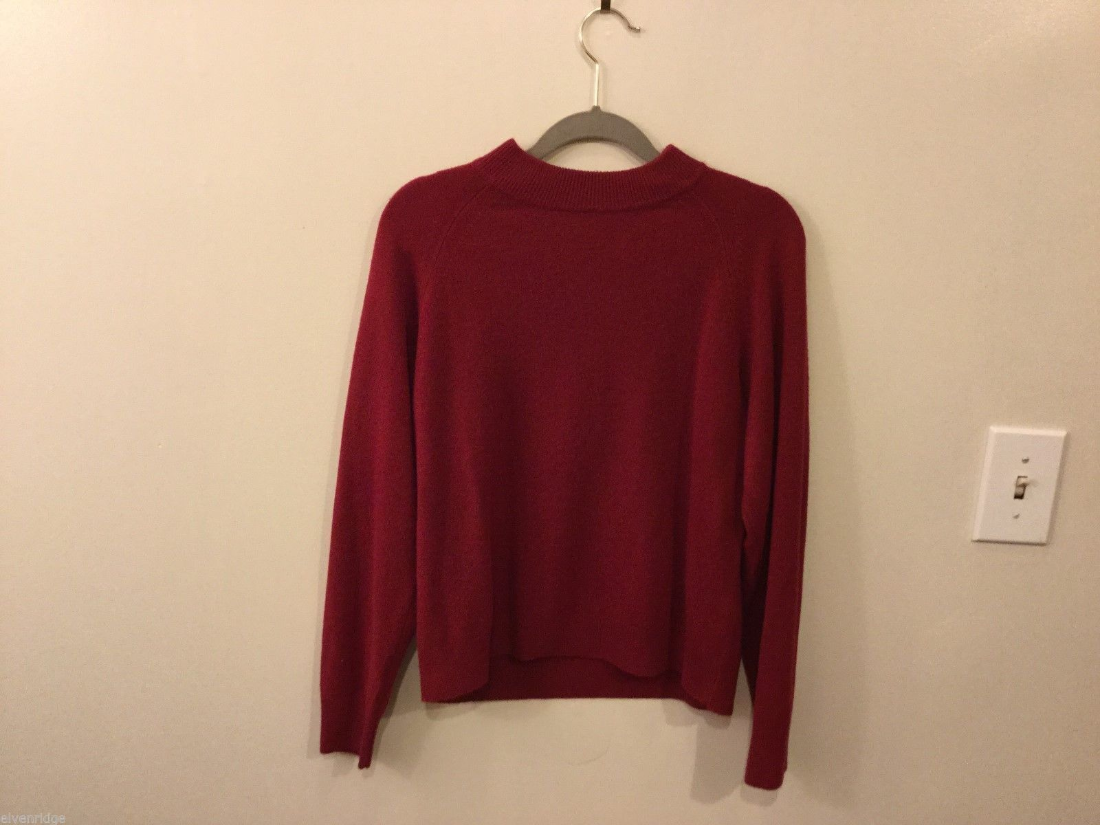Womens Designers Originals Petite Deep Red Sweater, Size PMedium