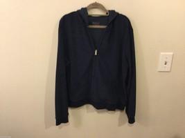 Womens New York & Co. Sport Navy Blue Zip-Up Sweatshirt, Size XL