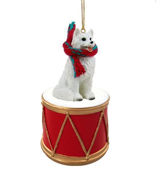 American greetings christmas ornament 81 listings american eskimo w drum dog christmas ornament holiday figurine scarf gift 1575 m4hsunfo