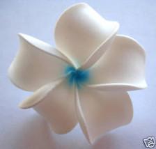 Hawaiian Hawaii Foam Flower Bridal Wedding Party Hair Clip White Blue Pl... - €6,08 EUR