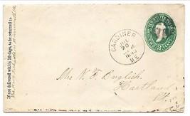 1890 Gardiner, ME Vintage Post Office Postal Cover - $7.99