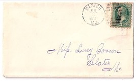 1881 Mexico, MO Vintage Post Office Postal Cover - $7.99