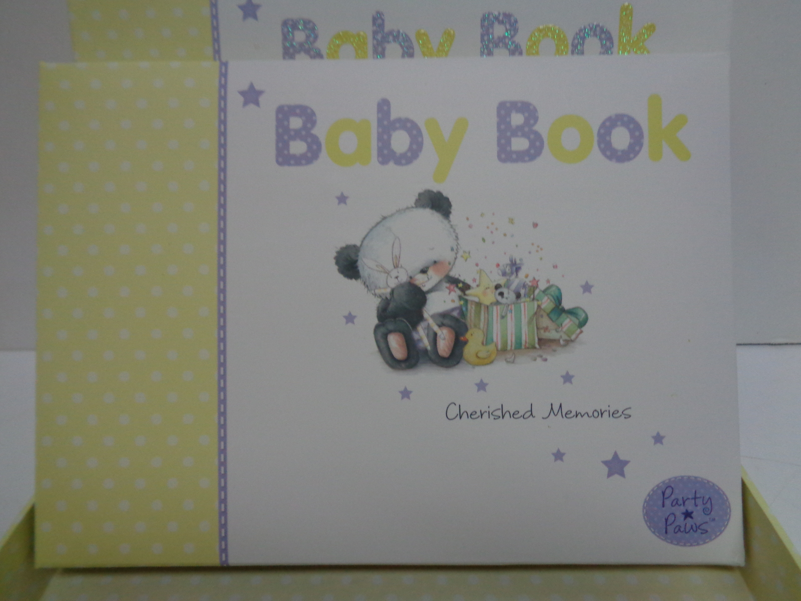 Baby Book Keepsake Teddy Bear NIB Arts Sake Unisex