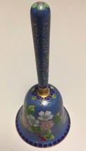 """Gorgeous Japan Asian Table Bell Cobalt over Copper Enamel Handmade 4.75""""... - $14.84"""