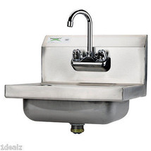 """Regency Wall Mounted NSF Hand Sink with Gooseneck Faucet - 17"""" x 15"""" - $103.94"""