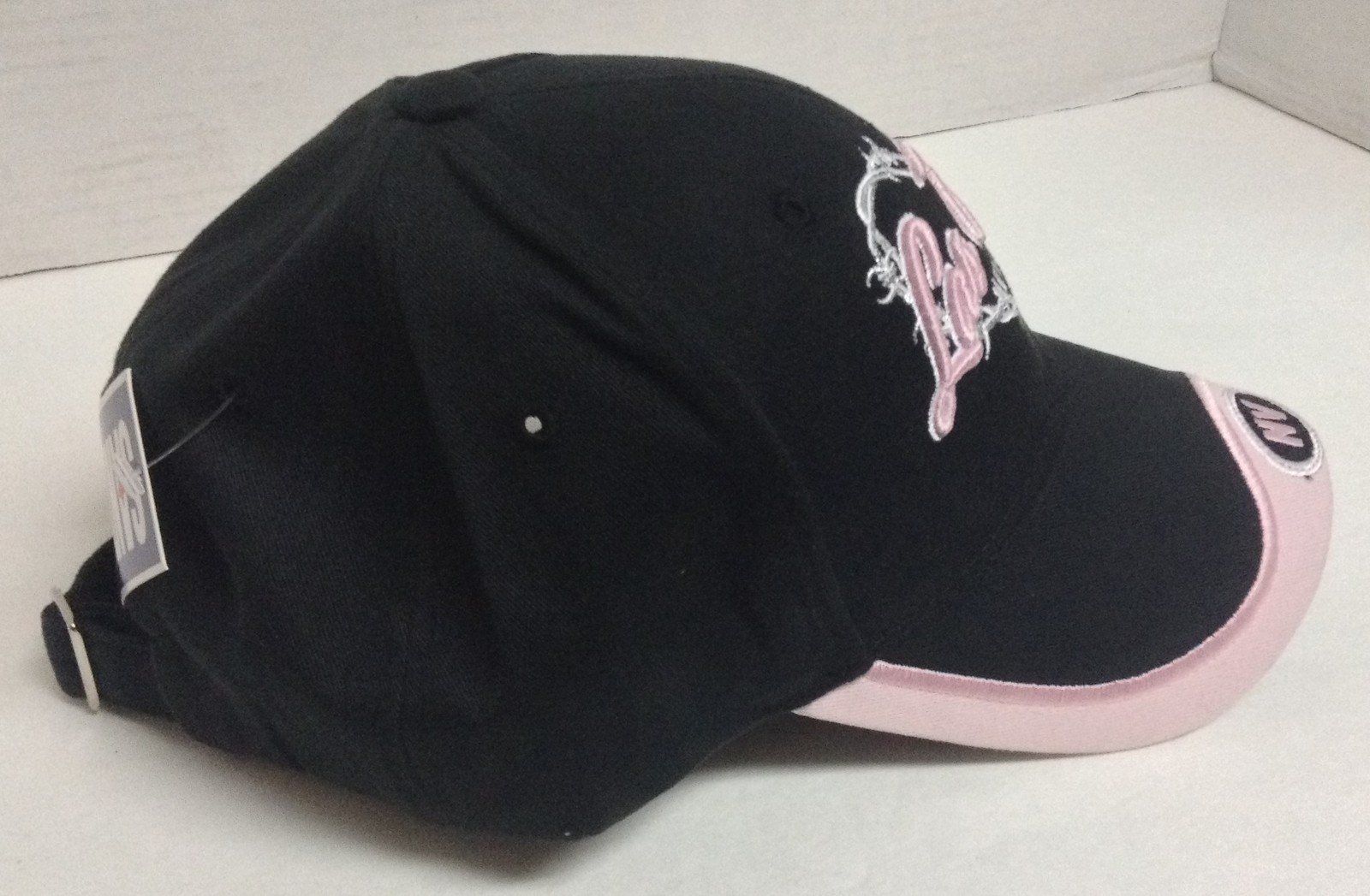 Las Vegas Nevada Baseball Cap Hat NWT Black w/Pink Trim Heart