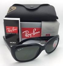 Ray-Ban Occhiali Jackie Ohh RB 4101 601/58 Cornici Nere Verde Lenti Polarizzate