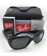 Ray-Ban Occhiali Jackie Ohh RB 4101 601/58 Cornici Nere Verde Lenti Pola... - $199.57