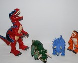 Fisher Price Imaginext Dinosaurs T-Rex Triceratops Lot of 4