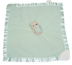 Classic Pooh Green Security Blanket Rattle Teet... - $12.19