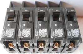 *5pc/Lot* Siemens Bq1 B020 Circuit Breaker, Bq Type, 20 A 1 Pole 120/240 Vac, 20 Am - $27.62