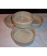 "Pfaltzgraff Bowls 5-1/4"" Light Green Set of 4 Dessert / Fruit Stoneware - $19.75"