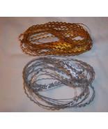 "Metallic Trim Rick Rack 1/4"" Silver OR Gold Your Choice! Braid 5 Yards each - $5.36"