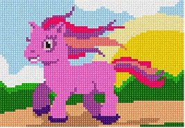 Pink Pony (Small) Needlepoint Kit - $43.81