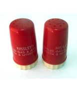 Salt Pepper Shakers Gas Nissley's Ephrata Myerstown PA 1940s Vintage Pla... - $15.83