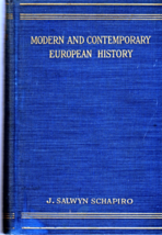 Modern And Contemporary European History (1815-1945) By J. Salwyn Schapi... - $5.95