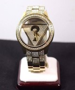 U0542L2 - New  Guess Gold-Tone Floating Iconic Triangle Ladies Watch RRP $185 - £69.23 GBP