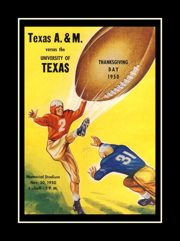 Texas A&M vs Texas 1950 Football Program and 10 similar items