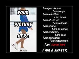 Personalized Custom Inspirational Skating Poster Motivational SKATER Wal... - $29.99+