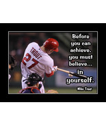 Inspirational Mike Trout Baseball Motivation Quote Poster Gift Wall Art - £14.53 GBP - £33.44 GBP