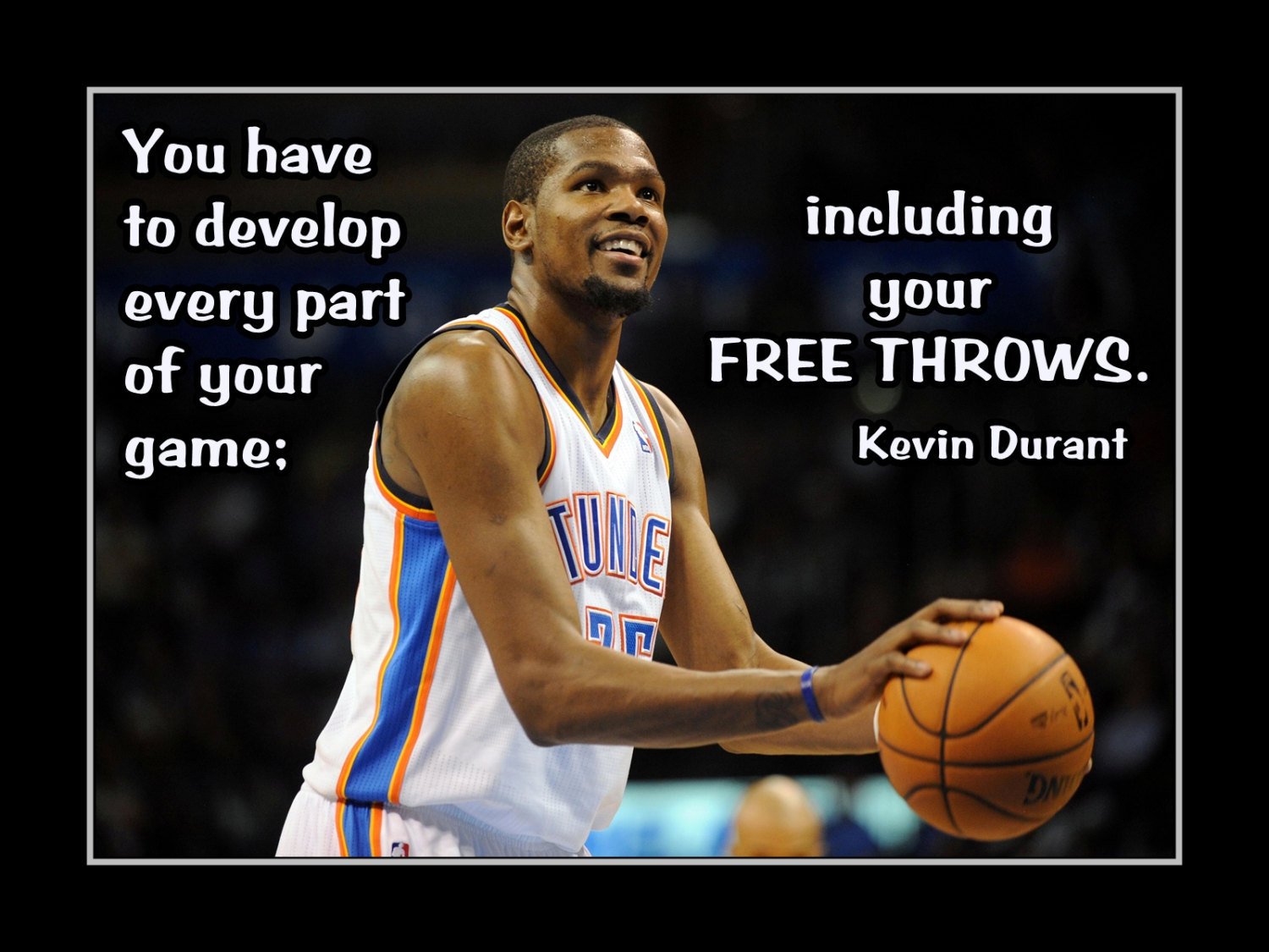 Kevin Durant Quote Basketball Motivation Quote Poster Kevin And Similar Items