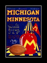 Michigan vs Minnesota Football Souvenir Program... - $16.99