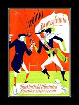 Virginia Cavaliers vs Pennsylvania Quakers Foot... - $16.99