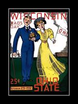 Wisconsin Badgers vs Ohio State Buckeyes Football Program Cover Art Poster - $16.99
