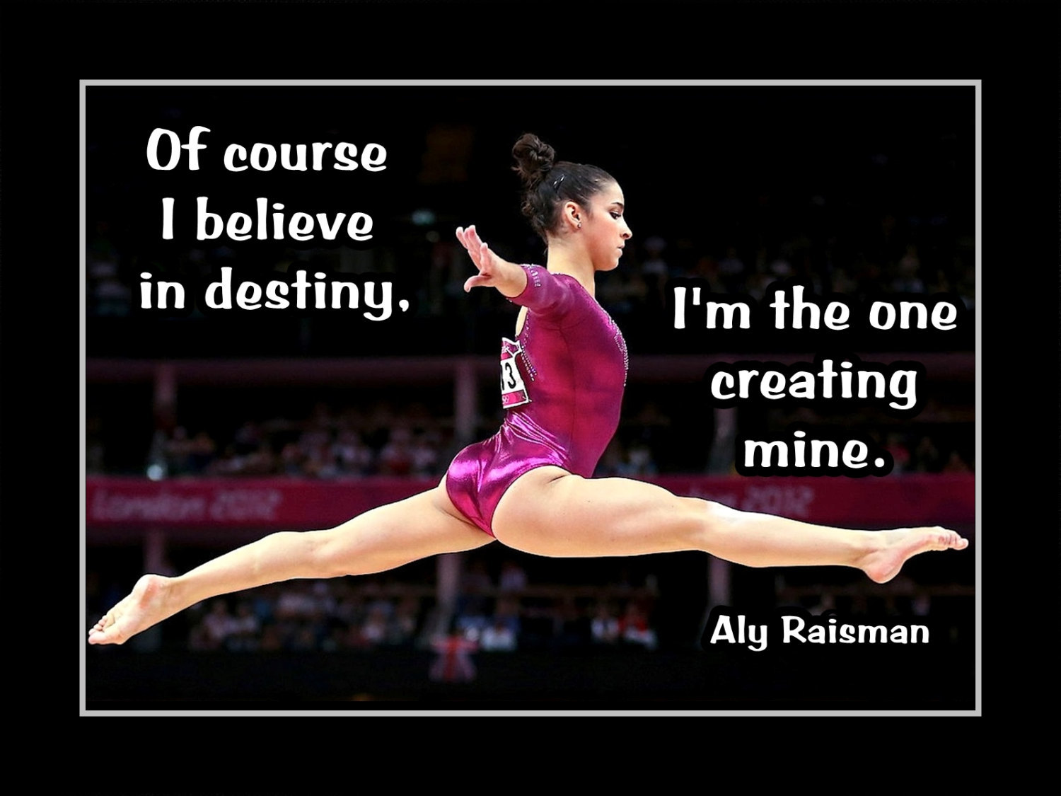 eaa63e936a82d Il fullxfull.855756300 n2qi. Il fullxfull.855756300 n2qi. Inspirational  Gymnastics Motivation Quote Poster Aly Raisman Photo Wall Art Gift