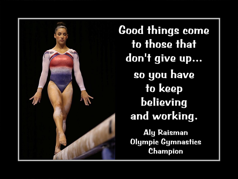 9131bd780bc5e Il fullxfull.869209190 34g7. Il fullxfull.869209190 34g7. Inspirational  Gymnastics Motivation Quote Poster Aly Raisman Photo Wall Art Gift