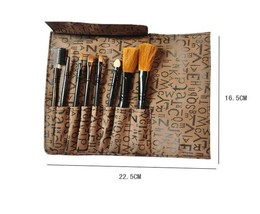 Jojo Professional 8-Piece Cosmetic Travel Brush Set with Case - $457,13 MXN