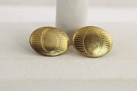 50s VINTAGE MENS JEWELRY CUFF LINKS SIGNED ANSON ENGRAVABLE FOR MONOGRAM - $5.00