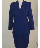 Atrium Lds Double Breasted Career Suit Size 8 P - $52.00