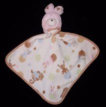 Baby Baby Blankets Beyond Pink Brown Bunny Security Blanket Lovey Monkey... - $20.92 CAD
