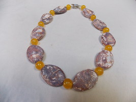 Hand made, one of a kind beaded necklace  Lava - $41.00