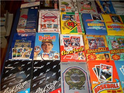 Primary image for BOX of 100 OLD BASEBALL PACKS HUGE LOT 1200+ Cards