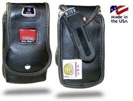 Turtleback Fitted Case Made for Motorola V3 Razr Phone Black Leather Rot... - $29.99