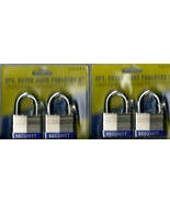LOT 2 Packs Two 2 in. Keyed-Alike Padlocks w/4 keys per set NWOT 4 Locks... - $11.50