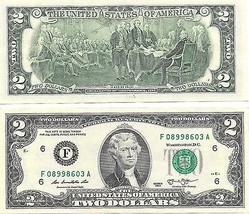 United States 2013-F Atlanta Uncirculated $2.00 Bicentennial Notes~Free ... - $4.94