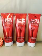 3 Bath Body Works Super Rich Moisturizing Body Wash 10oz Japanese Cherry... - $29.69