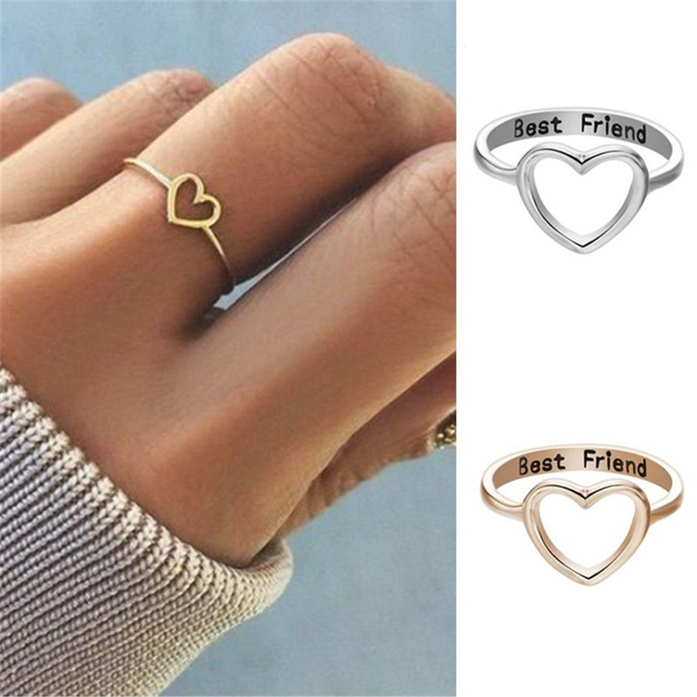 Primary image for [Jewelry] Best Friend Heart Ring for Friendship Gift