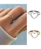 [Jewelry] Best Friend Heart Ring for Friendship Gift - ₹430.93 INR+